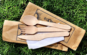 Wooden Fork Knife Spoon
